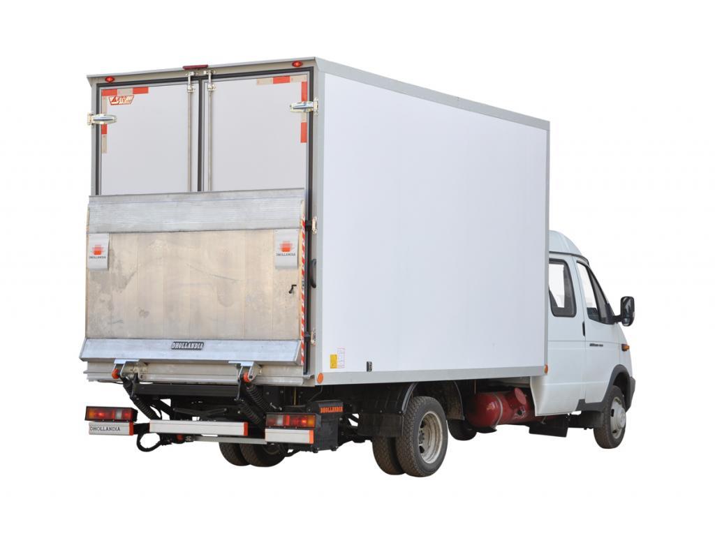 Изотермический фургон Газель на шасси ГАЗ-33023 с гидробортом